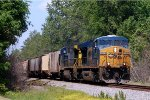CSX ES-44DC #5463 is about to cross Halligan Park Rd. with a southbound grain train